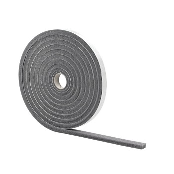 "Foam Tape, Low Density, Gray ~ 3/8"" x 1/2"" x 17 ft"