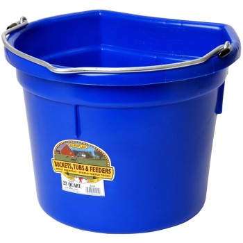 Miller Mfg  P22FBBLUE Flat Back Bucket, Blue ~  22 Quart