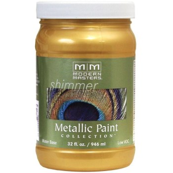 Metallic Paint, Pale Gold 32 Ounce