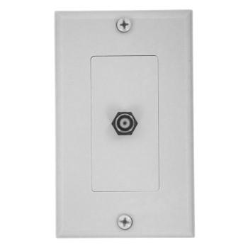 Wall Mount Jack, CoAxial Cable ~ White
