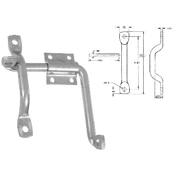 National  Door/Gate Latch ~ Zinc