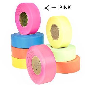 Intertape 6881 Flagging Tape, Pink