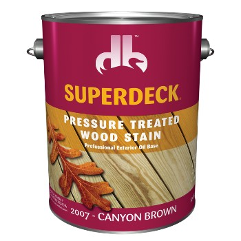 Pressure Treated Wood Stain ~Canyon Brown/Gallon