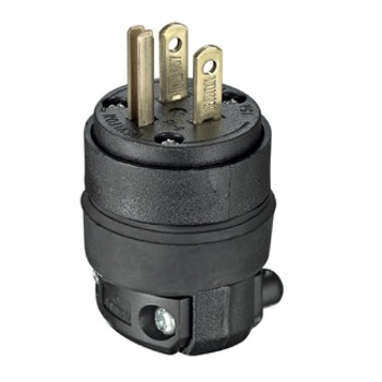 Rubber Rough Duty Grounding Male Plug