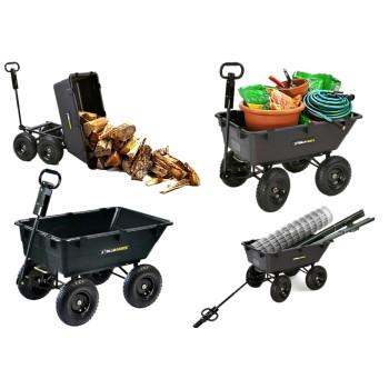 Tricam GOR6PS Gorilla Heavy Duty Garden Poly Yard Dump Cart ~ 1200 Lb