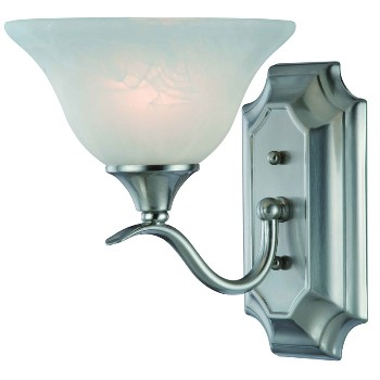 1 Light Wall Light, Satin Nickel