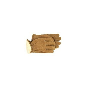 Split Leather Gloves - Pile Lined - Large