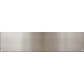 "Kickplate,  Satin Nickel ~ 8"" x 34"""