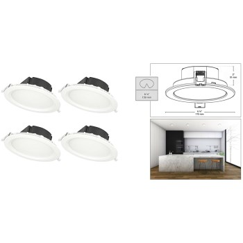 Box Recessed LED Light Fixture ~ 6 7/8""