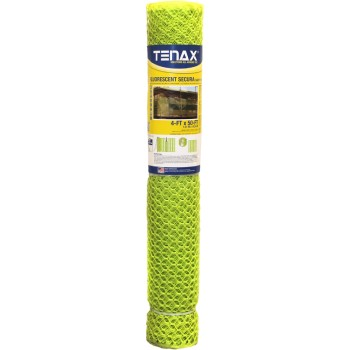 Tenax Corp 2A150088 Safety Fence, Fluorescent ~ 4 x 50