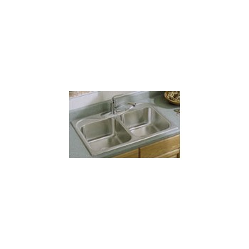 Sterling Kohler Company (Sink) 11401-4NA 114014na 33x22x7 Dbl 4h Sink