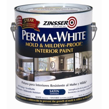 Rust-Oleum 02711 Zinsser Perma-White Mold & Mildew Proof Interior Paint,  Satin Finish ~  Gallon