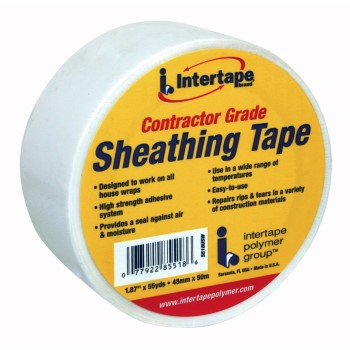 "Contractor Grade Sheathing Tape, White ~ 1.87"" x 55 yds"