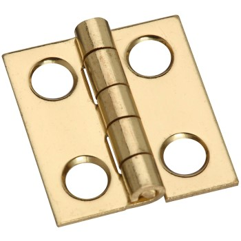 Solid Brass Hinge, Visual Pack 1801 3/4 x 11/16""