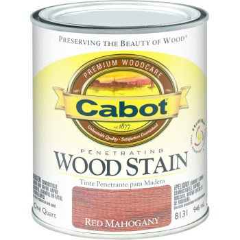 Penetrating Interior  Wood Stain,  Red Mahogany ~ Quart