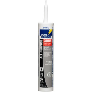 White Lightning WL30060 All Purpose Caulk ~ 10 oz Tubes