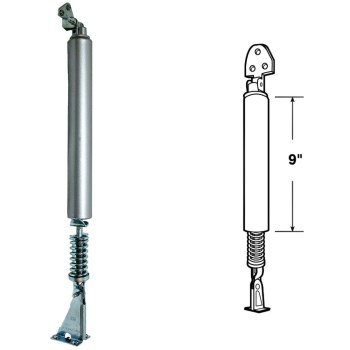 "Medium - Heavy Duty Pneumatic Storm Door Closer w/Shock Spring,  Aluminum Finish  ~ 9"" Barrel"