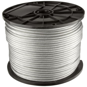 "Vinyl Coated Cable ~ 1/4"" x 200 Ft"