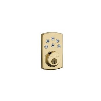 Powerbolt Touchpad Electronic Deadbolt ~ Polished Brass