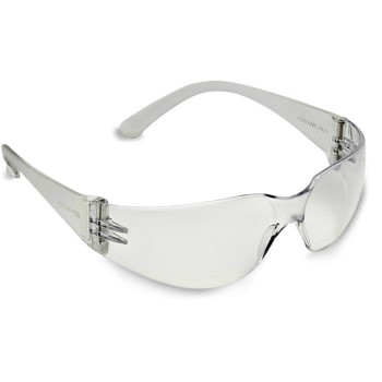 Bulldog Scratch-Resistant Safety Glasses, Clear Lens