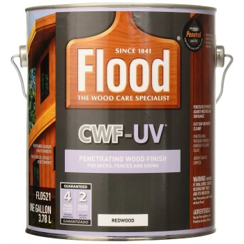 PPG/Akzo FLD521-01 Flood CWF-UV Deck and Siding Stain, Redwood ~ Gallon
