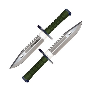 Special Forces M9 Bayonet, Green Handle, Green Sheath