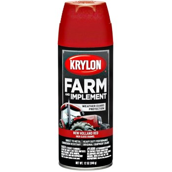 Farm & Implement Spray Paint,  New Holland Red  ~ 12 oz Aerosol