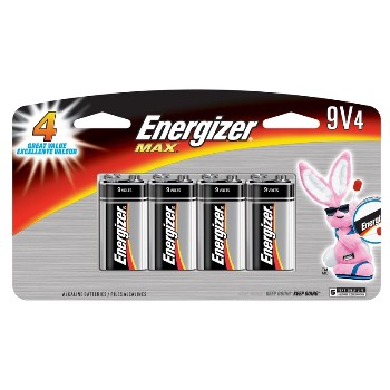 Energizer 522BP-4H 4pk 9v Alk Battery