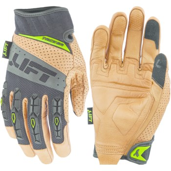 Lift Safety GTA 17KBL Pro Tacker Worker Glove, Brown/Black ~ Medium