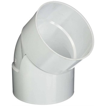 PVC 45 Degree Sewer & Drain Elbow ~ 6""