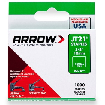 Arrow Fastener 276 Staples - Tackpoint -  3/8 inch