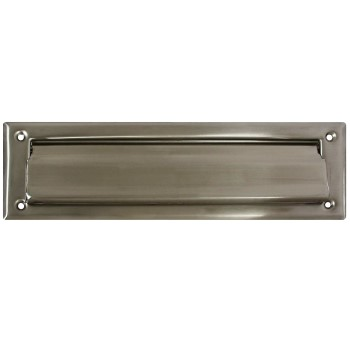 "Solid Brass Mail Slot, Satin Nickel Finish ~ 2"" x 11"""