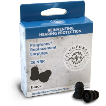 ComforTiered Replacement Silicone Plugs,  Black