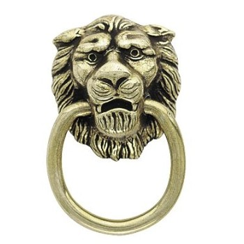 Pull - Lion's Head Style - Antique English Finish - 1 3/8 inch