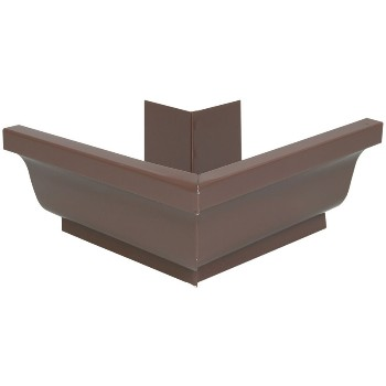 Amerimax   2520219 Aluminum Gutter Outside  Miter Style K, Brown ~ 5""