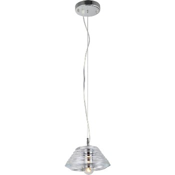 Hardware House 210607 Jar Pendant Fixture, 1 Light ~ Clear
