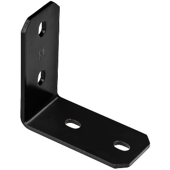 "Heavy Duty Structural Corner Brace, Black   ~  6.2"" x 3"" x 1/4"""