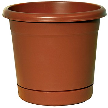 Planter, Rolled Rim/Terra Cotta ~ 8""