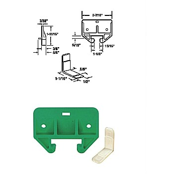 "Drawer Track Guide Kit, 1-1/8"", Plastic"