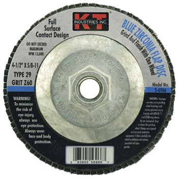 4.5in. 60g Blue Flap Disc