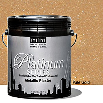 Metallic Plaster,  Pale Gold  ~  One Gallon