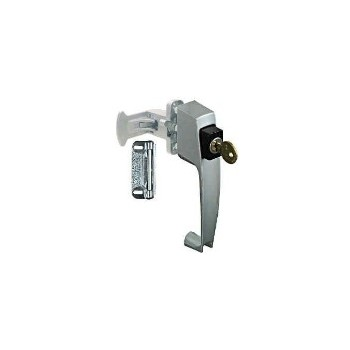 Aluminum  Keyed Pushbuttn Latch, Visual Pack 1317