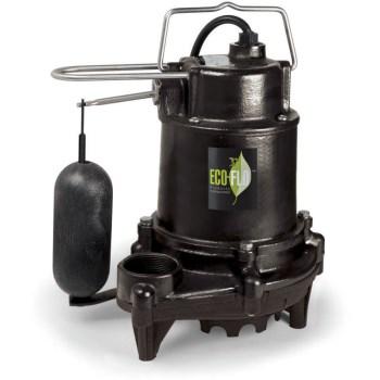 Eco-Flo Products Inc EFSA33 1/3 Hp Pro Ci Sump Pump