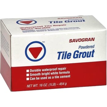 Powdered Tile Grout,  White ~   1 Lb.