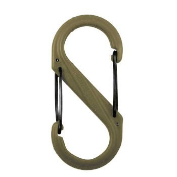 S-Biner Plastic, Size #2, Coyote Tan with Black Gates