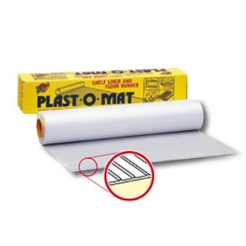 100 Feet Clear Plast-O-Mat Ribbed Floor Runner Per 100 Ft PM-100