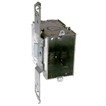Switch Box With Bracket, 3 x 2 inch 3 1/2 inch Deep