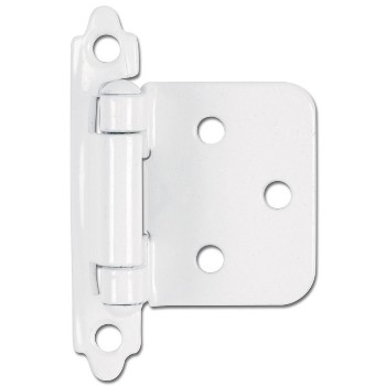 Flush Cabinet Hinge, White