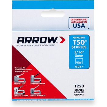 Staples - T50 Arrow Staple - 5/16 inch