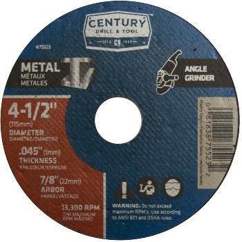 Century Drill & Tool   75523 4-1/2x.045 Mtlgrnd Wheel 75523